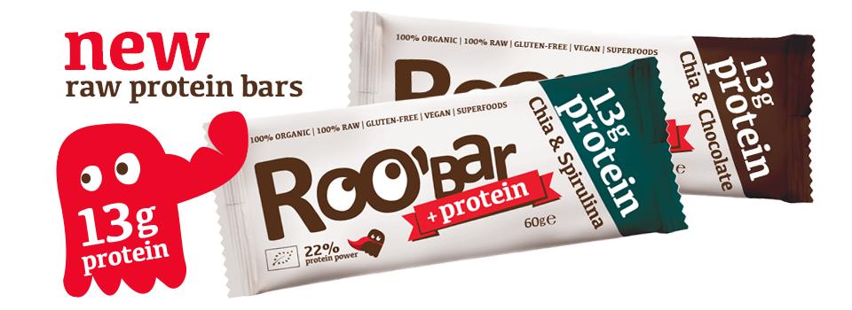 Roobar Chia & Chocolate Protein-Riegel ist #pflanzlichimfall und gibts jetzt auch bei uns im Shop!