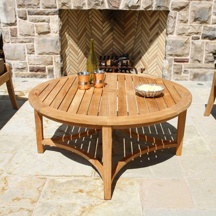 Berwick round coffee table teak coffee table coffee