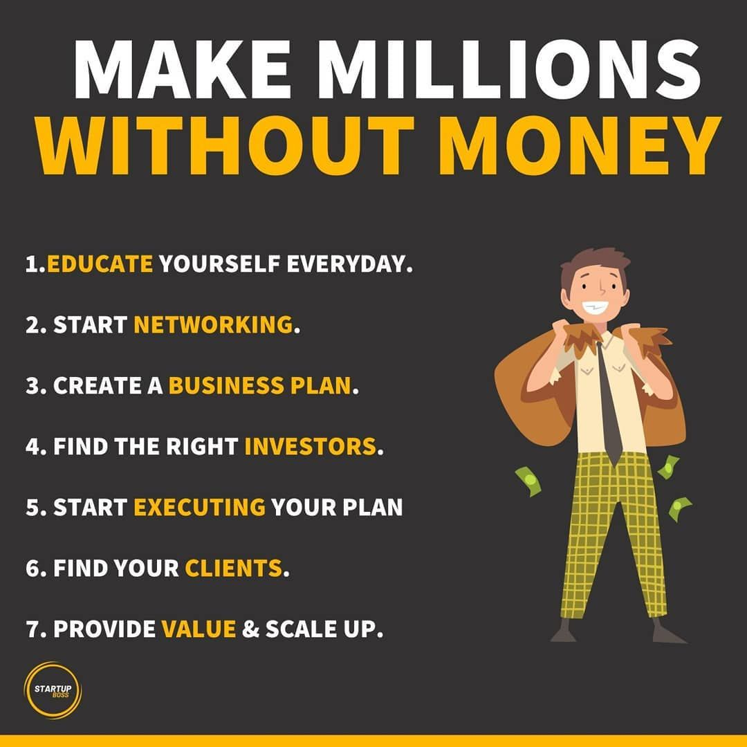 Make Millions Without Money in 2020 Business motivation