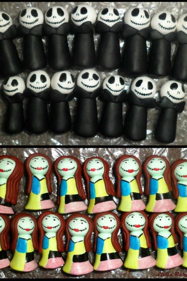 Our Wedding Favours To Go In Top Of Cupcakes Nightmare Before