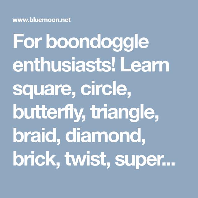 For Boondoggle Enthusiasts Learn Square Circle