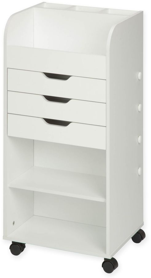 Honey Can Do 174 Rolling Craft Storage Cart With 3 Drawers In