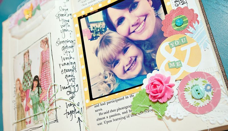 Great scrapbook page, love the flower!