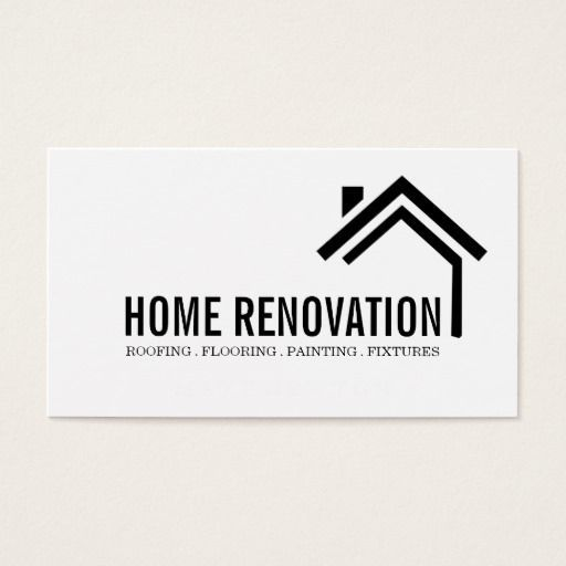 House Home Remodeling Renovation Construction Business Card Carte De Visite Entreprise Logo D