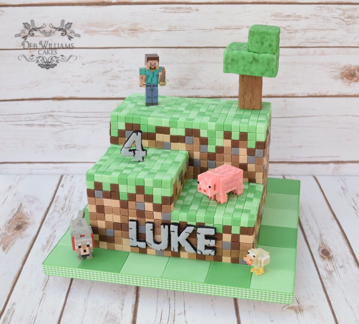 Minecraft Themed Cake By Deb Williams Cakes Party Ideas