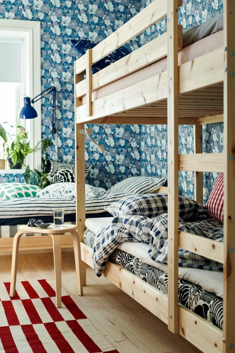 Buy Mydal Bunk Bed Frame Pine 90x200 Cm Online Uae Ikea Ikea Catalog Bunk Beds Bedroom Design