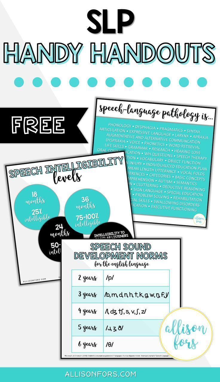 Free speech therapy handouts speech therapy organization