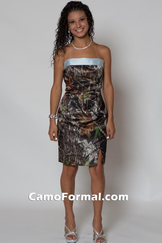8074-BS in Mossy Oak with Light Blue Bow-Sash