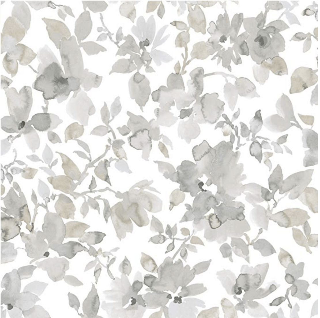 Roommates Neutral Watercolor Floral Peel And Stick Wallpaper Watercolor Floral Wallpaper Farmhouse Wallpaper Floral Watercolor