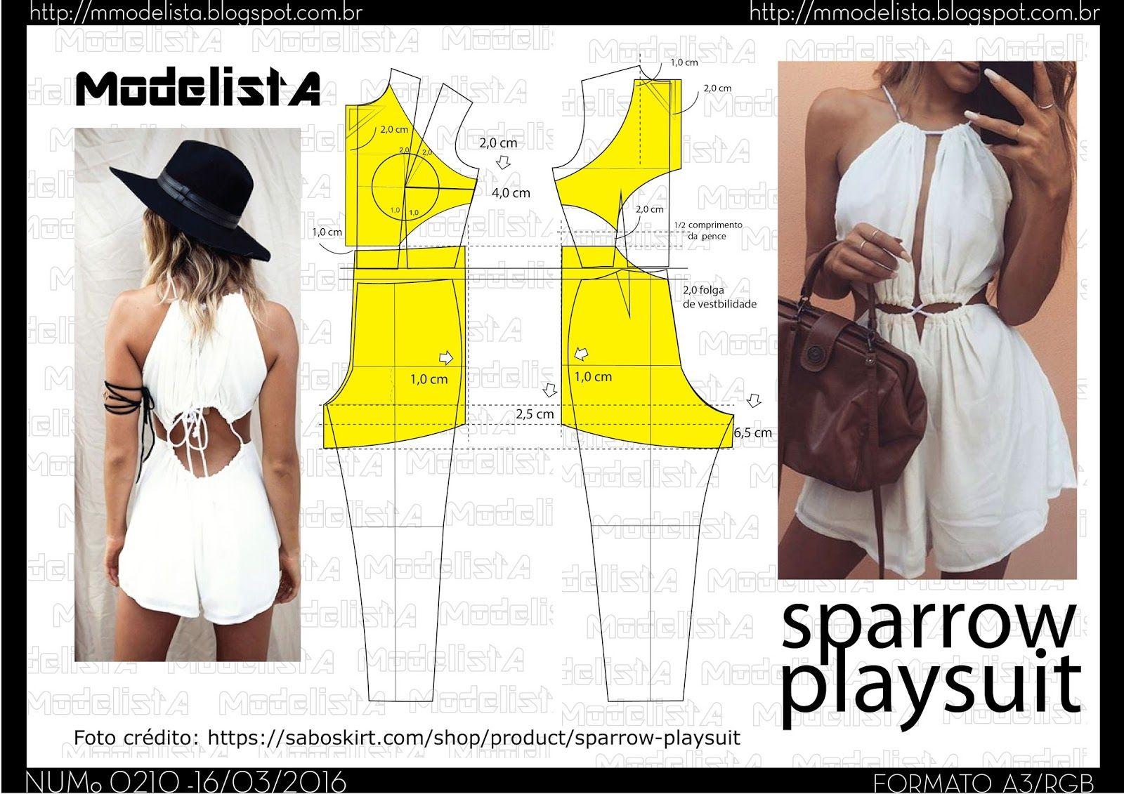 ModelistA: A3 NUMo 0210 PLAYSUIT | Sewing | Pinterest | Molde ...