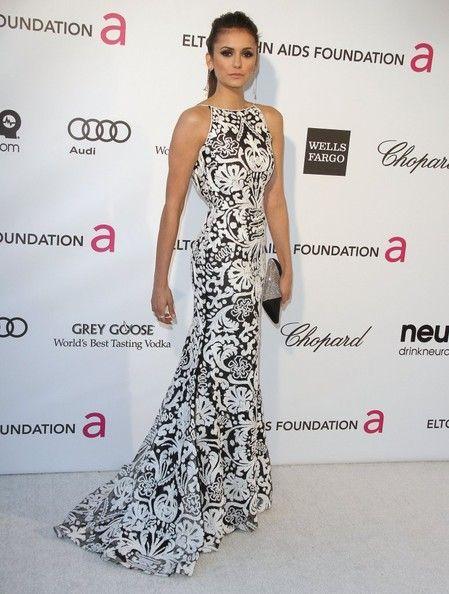 Nina Dobrev Photos: The 2013 Elton John AIDS Foundation Academy Awards Viewing Party in LA
