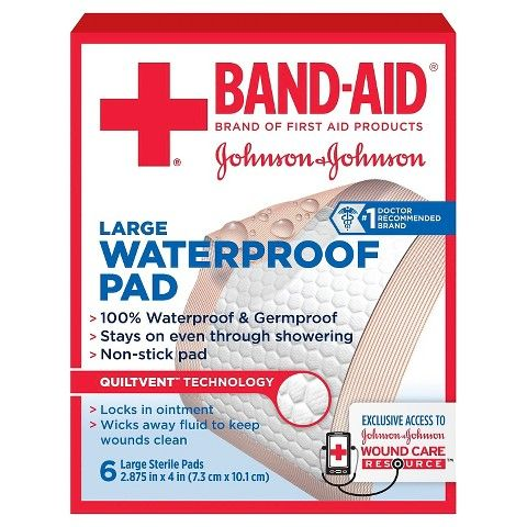 Johnson Johnson Water Proof Pads 6 Count Band Aid Waterproof Pad Wound Care
