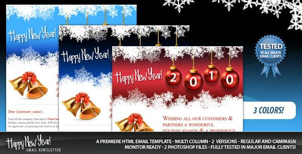 happy new year email