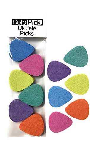 Produces Richer Warmer Natural Tone Leather Picks for Ukulele With Easy to Hold Triangle Shape Cutout Guitar and Bass by Lohanu