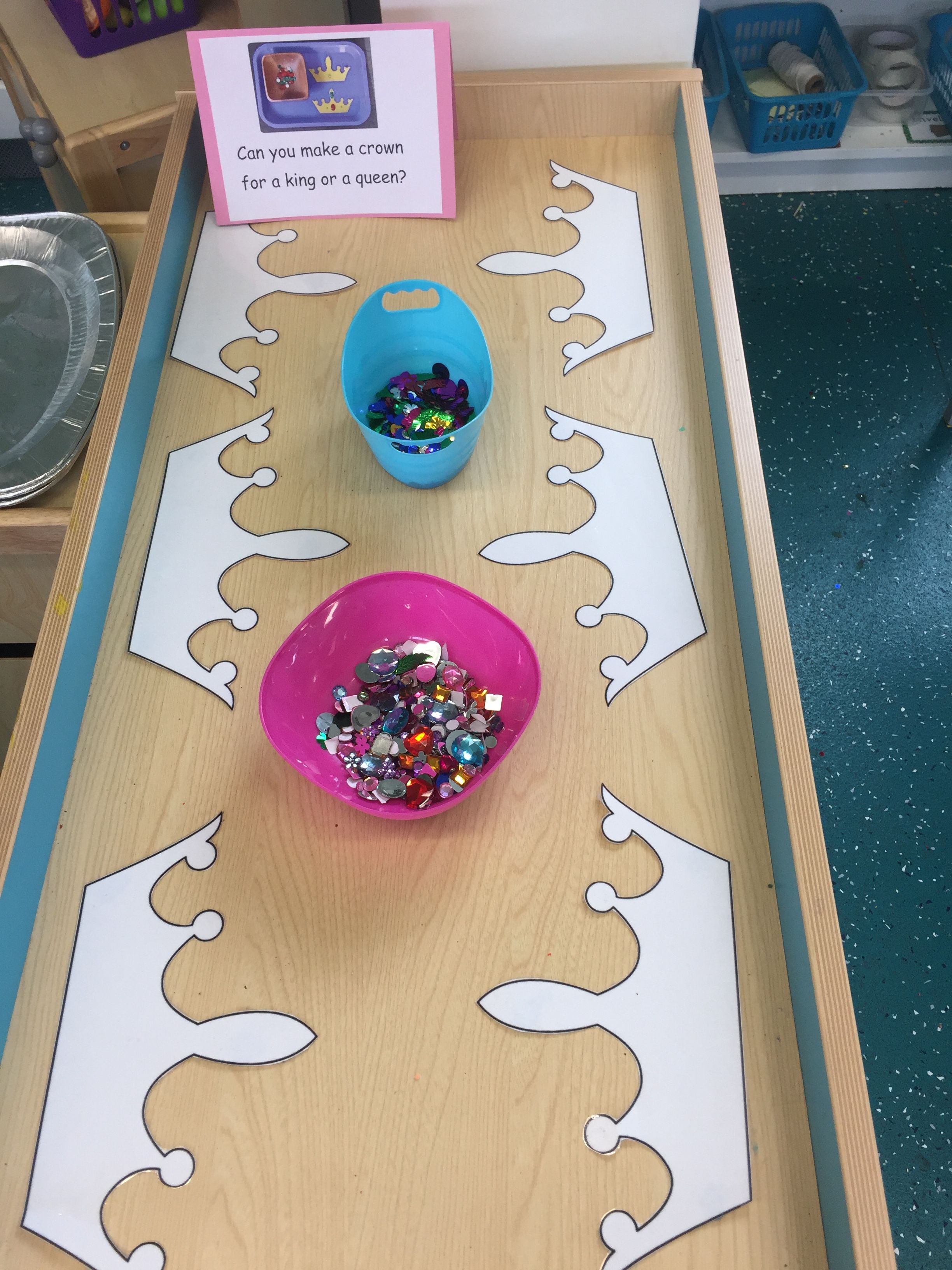 Fine Motor Skills Activity Decorating Crowns