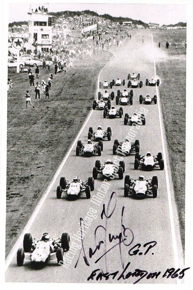 Sam Tingle Autographed image. 1965 South African Grand