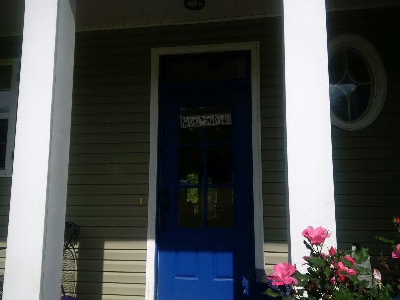 Front door painted with HGTV paint