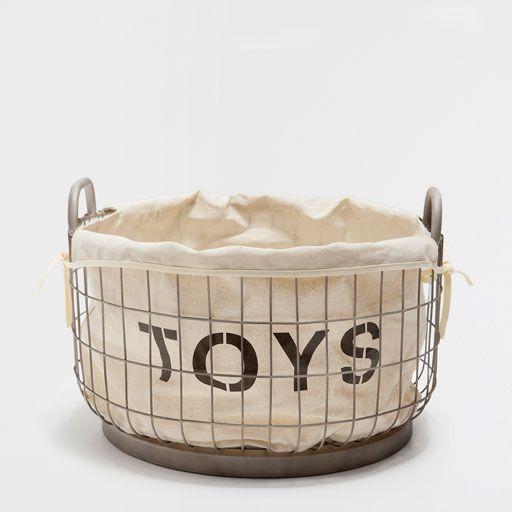Large Mesh Toy Basket Toy Basket Basket Girl Room Inspiration