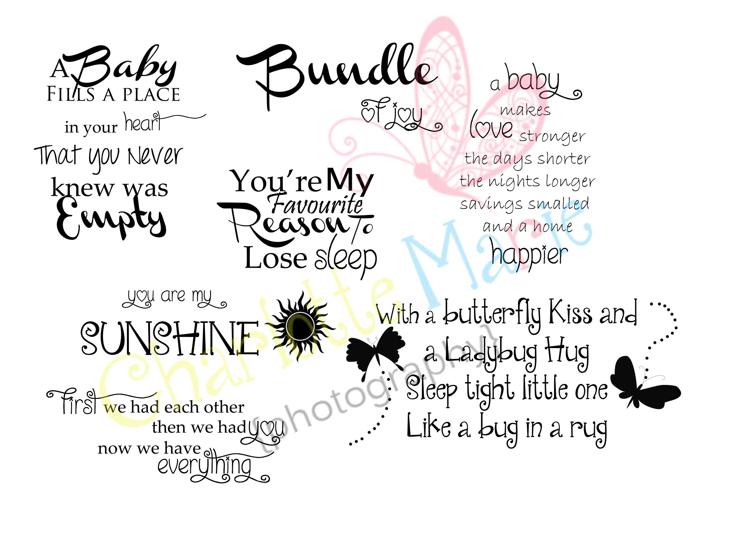 Welcome Baby Boy Quotes For Newborn: Newborn Quotes Overlays