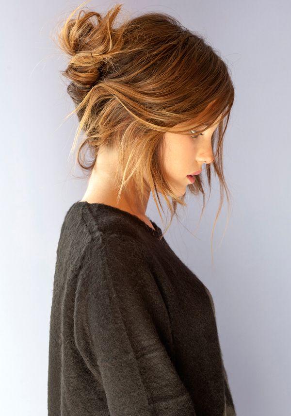Recogido Informal Peinados Recogidos Casuales Recogido Cabello Corto Peinados Cabello Medio