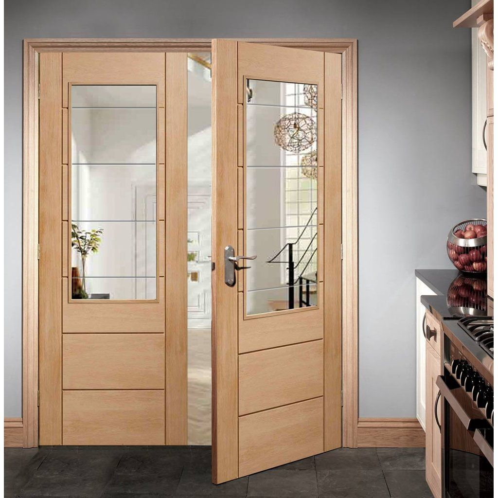 Palermo Oak 2xg Door Pair With Clear Etched Safety Glass Pinterest