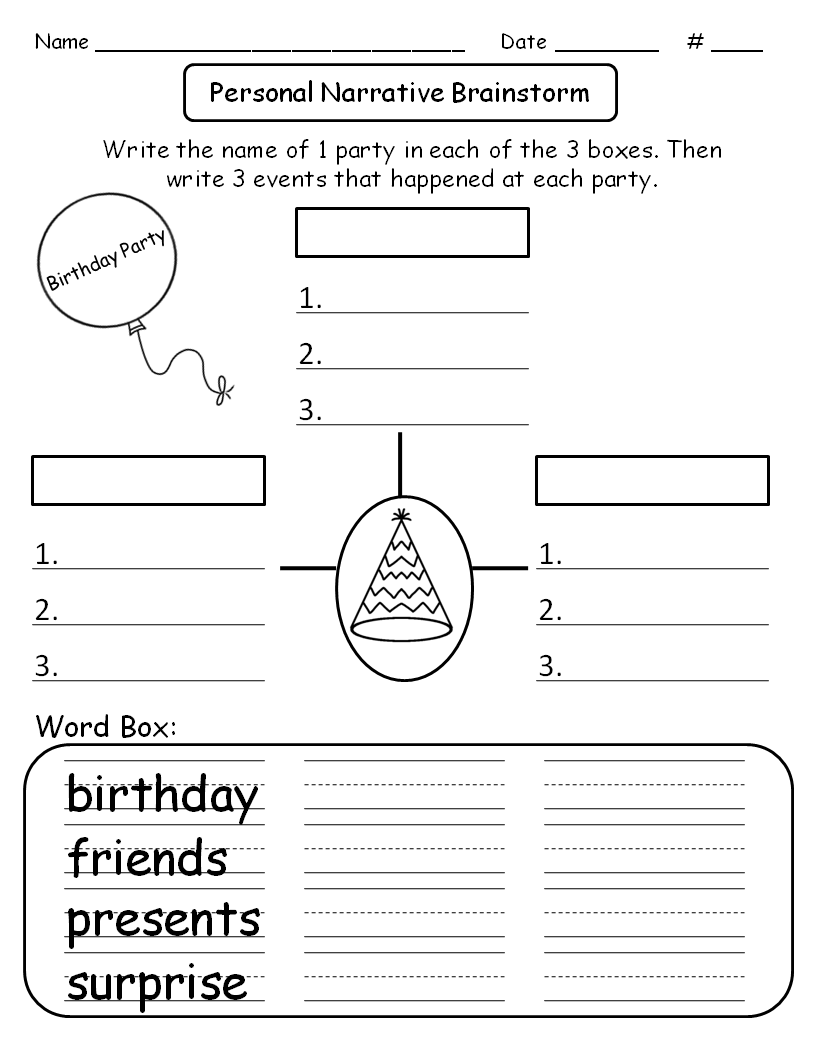 free! personal narrative graphic organizer. teaching with a game