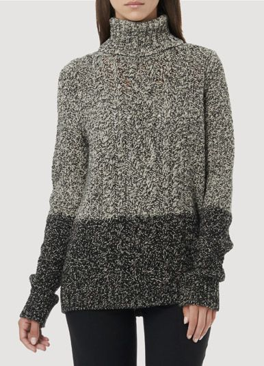 Love the colorblocked texture of this Vince sweater.