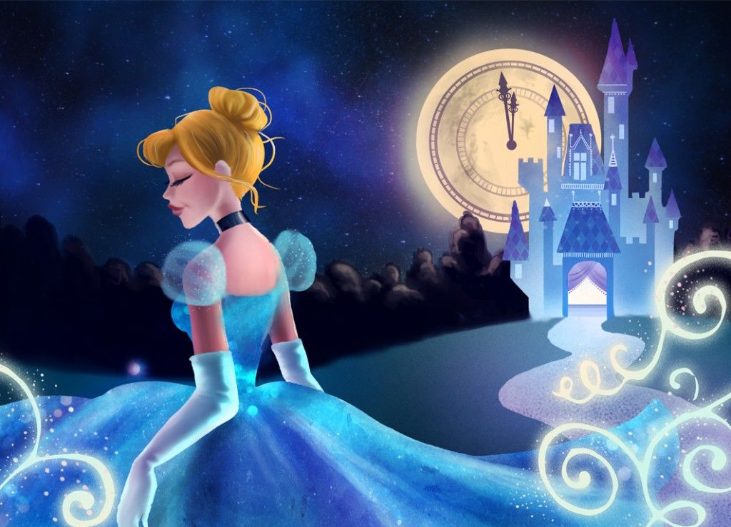 From Disney artist Ty Amato, this wallpaper shows Cinderella in the moments just before midnight!