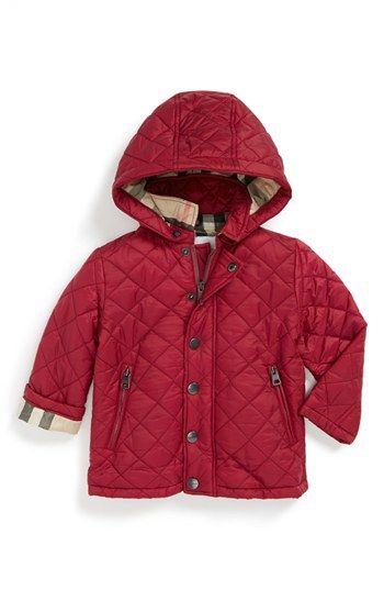 Burberry Quilted Jacket Baby Girls Available At Nordstrom Baby