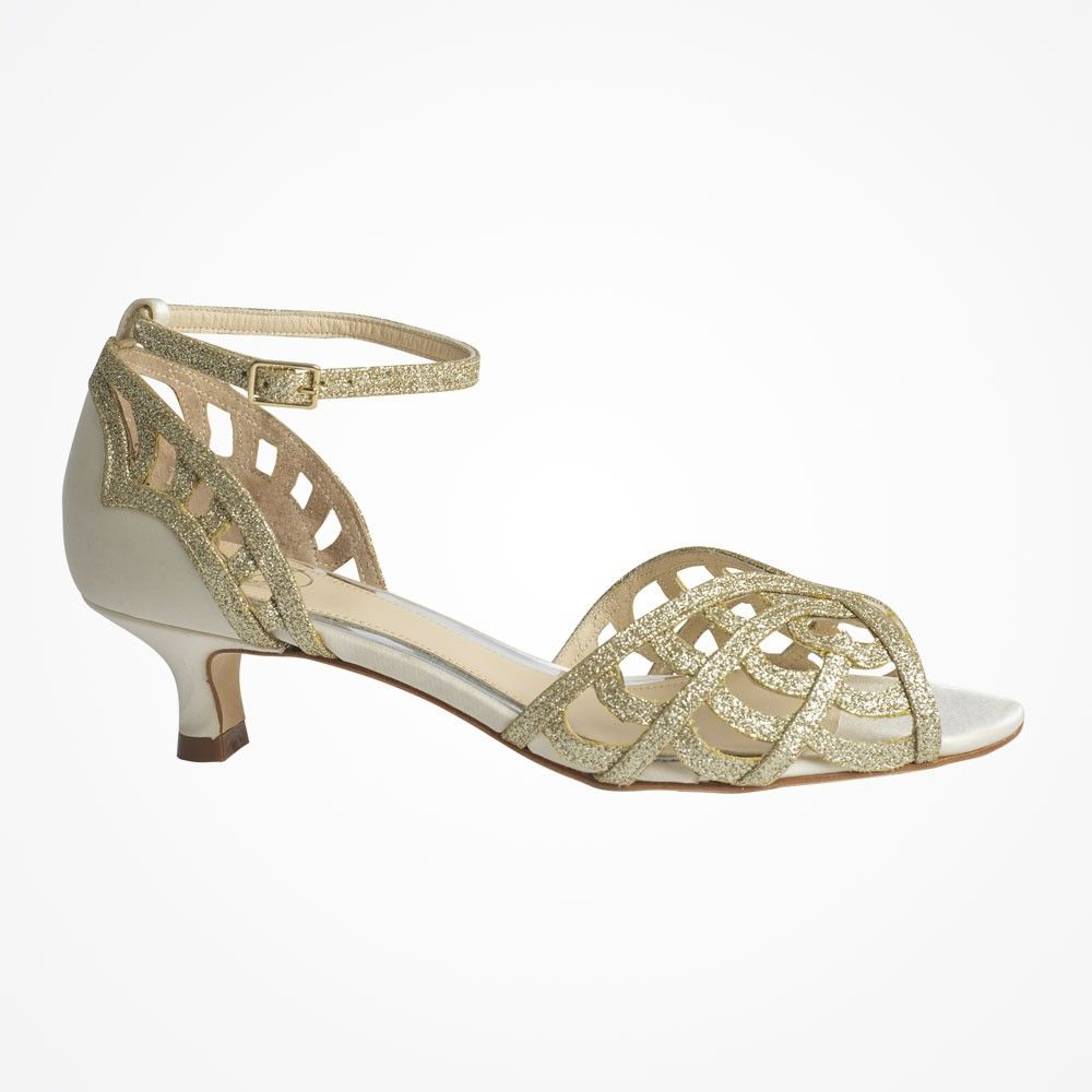944fbffd4eb Karis (cream) caged satin and glitter leather kitten heels by Love Art Wear  Art Delicately caged kitten heels offering a beautiful low-heeled take on  Love …