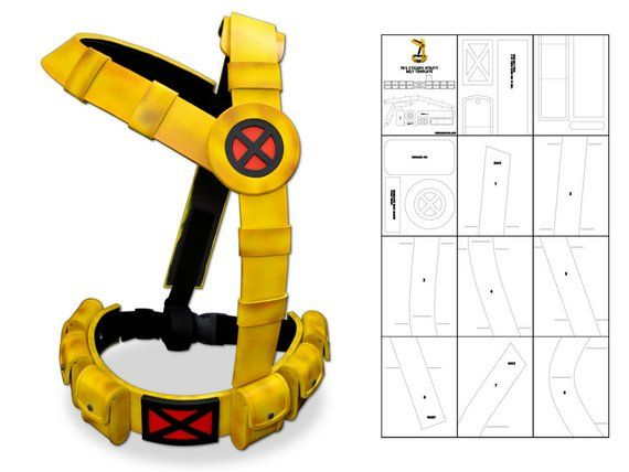 Template for 90's Cyclops Utility Belt   Products   Superhero