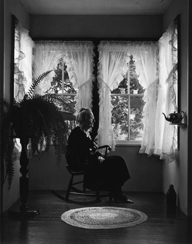 Grandma Moses Eagle Bridge NY 1949 | Arnold Newman
