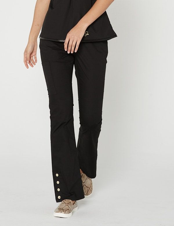 621a7262efb The Bootcut Pant in Black is a contemporary addition to women's medical  scrub outfits. Shop Jaanuu for scrubs, lab coats and other medical apparel.