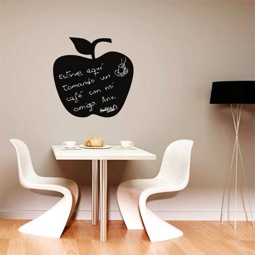Original vinilo de pizarra con forma de manzana para - Pizarras para decorar ...