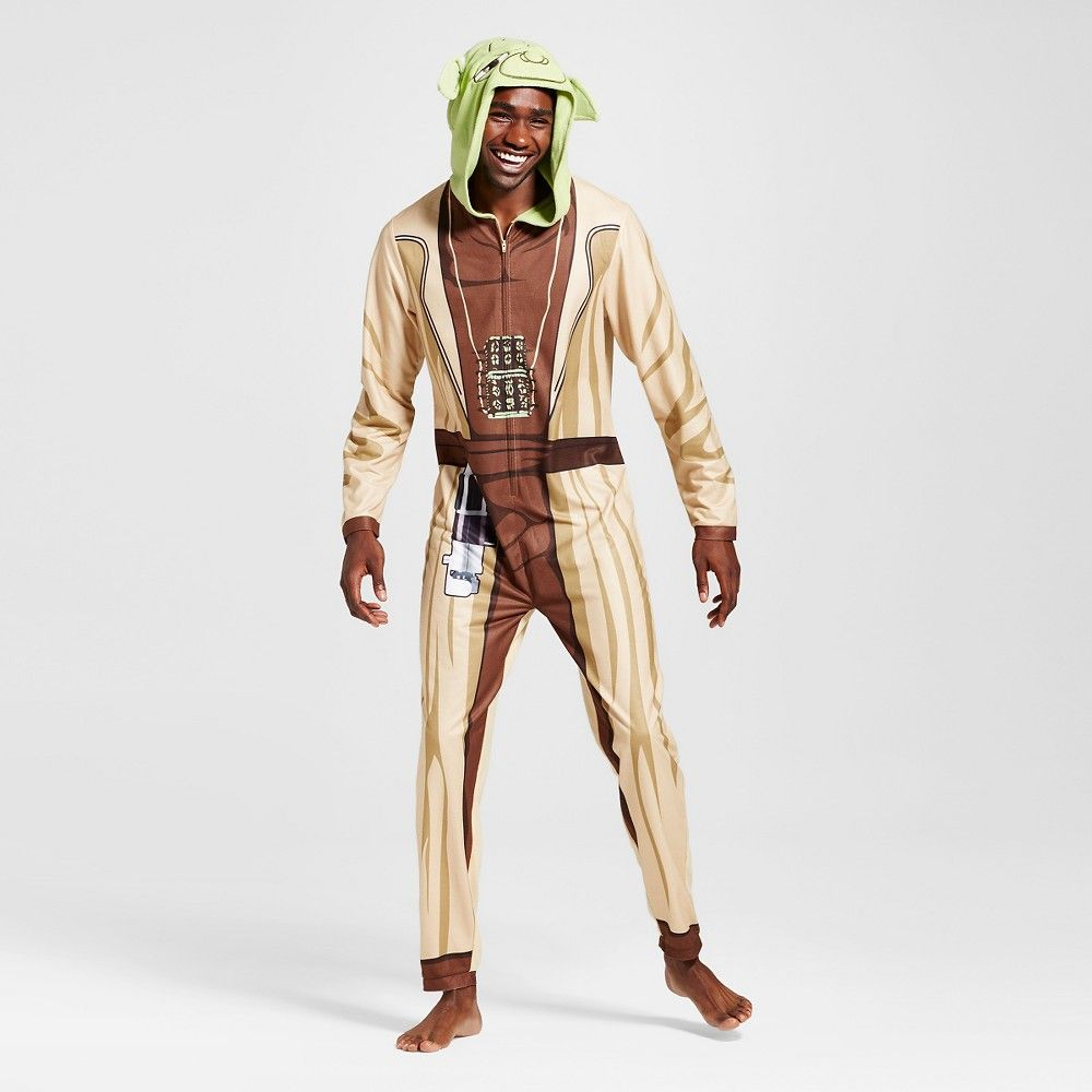 Mens Yoda Union Suits Multi Color Xlarge Star Wars Full Body