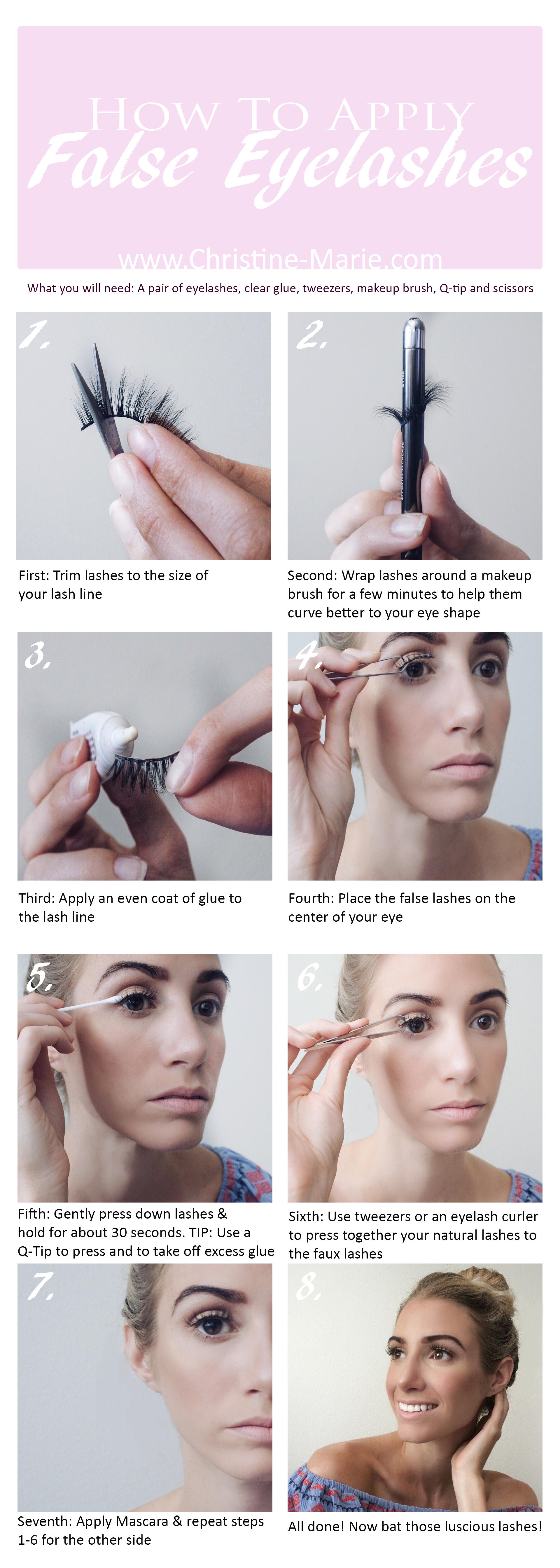 a19eb8c812f How To Apply False Eyelashes | My Style | Pestañas postizas, Aplicar ...