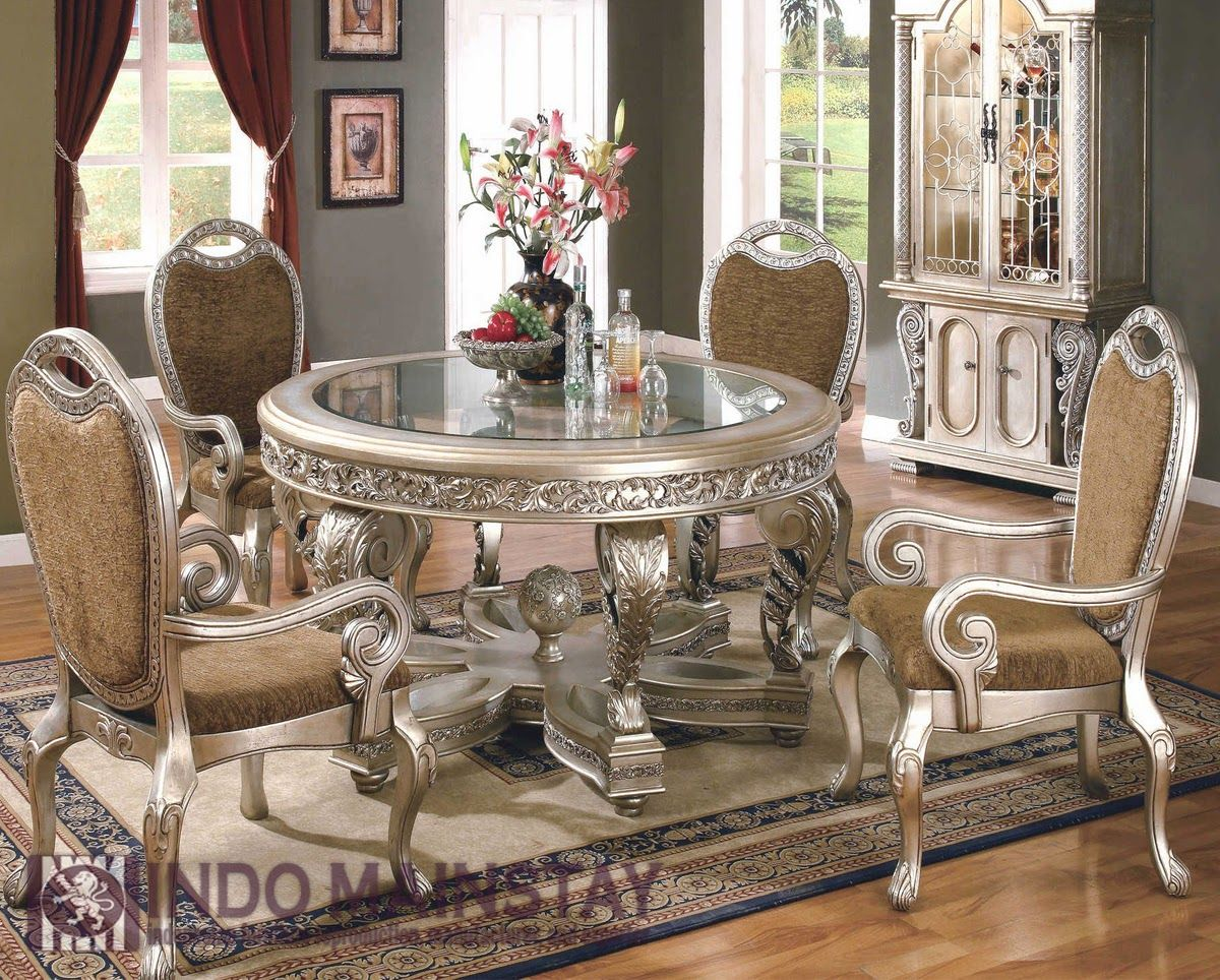Silver Painted Dining Room Table