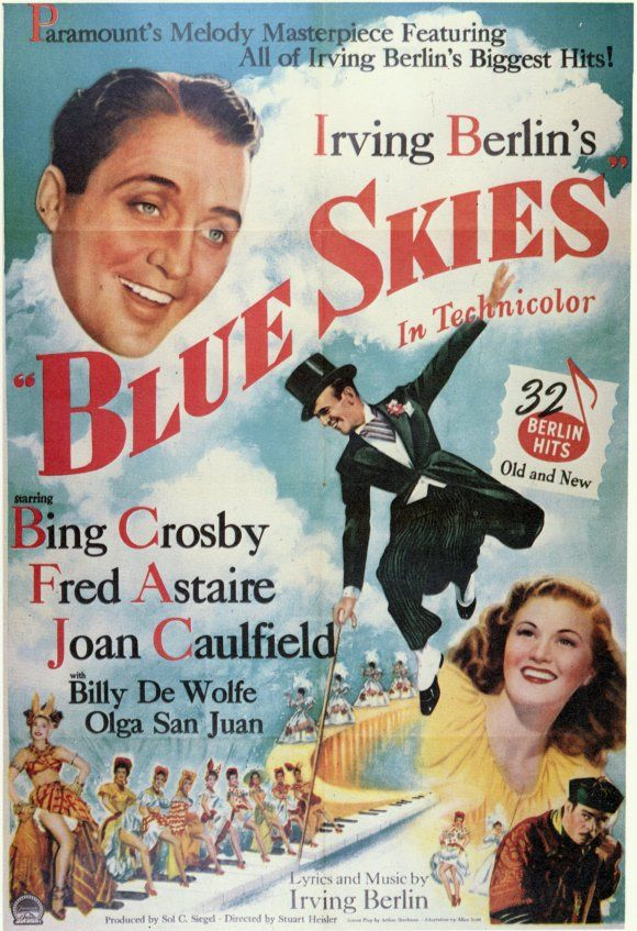 blue skies 1946 Blue Sky Movie, Film Blue, Vintage Movies, Old Movies,