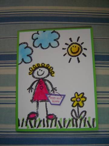 Crayon Kids By Toni J Cards And Paper Crafts At Splitcoaststampers Kids Birthday Cards Crayola Kids Cards Handmade