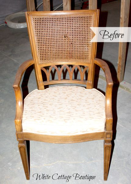 Replacing Cane With Padded Upholstery Painting Fabric Chairs
