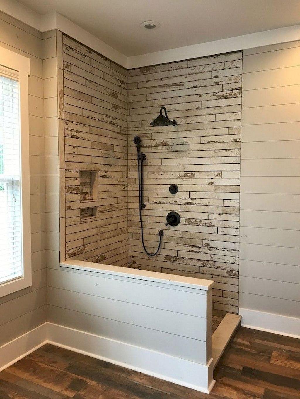 65 Awesome Farmhouse Bathroom Tile Floor Decor Ideas ... on Farmhouse Bathroom Tile  id=48914