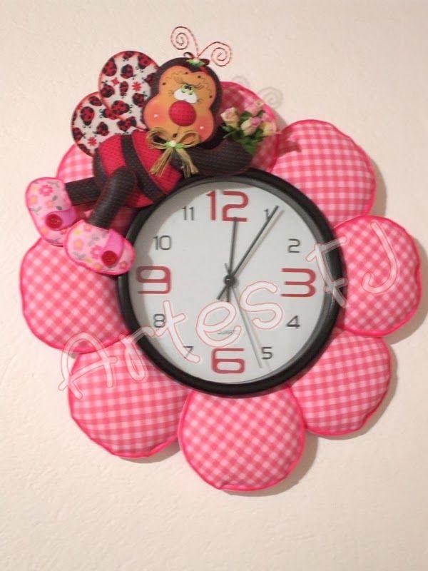 Pin de eva barrera en mis trabajos pinterest clock manualidades y sewing - Manualidades relojes infantiles ...
