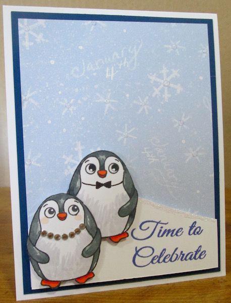 Simon Says Stamp Wild Thing Penguin Birthday Card Donna