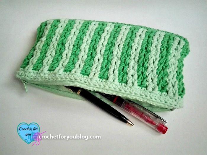 Handy Dandy Pencil Case Free Crochet Pattern