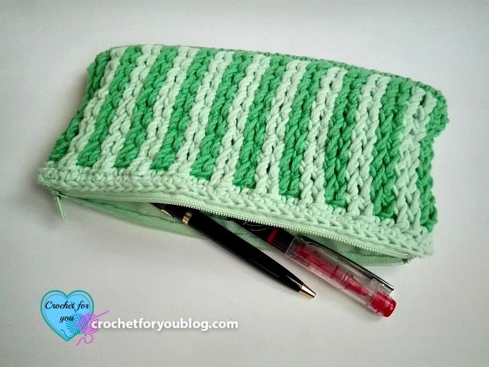 Handy Dandy Pencil Case - free crochet pattern   bolsas carteiras ...
