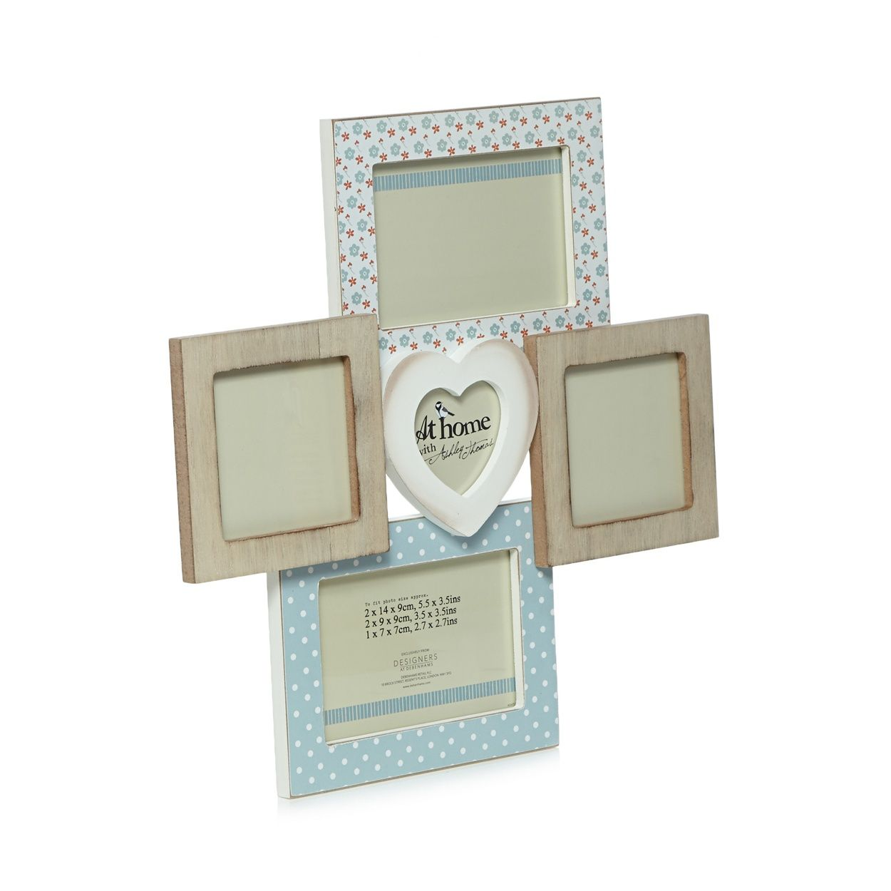 From Our Exclusive Ashley Thomas At Home Range This Shabby Chic Inspired Aperture Frame Will Make The Perfect Finishing T Photo Frame Wall Frame Wooden Hearts