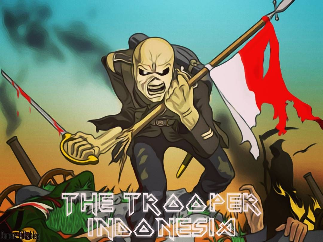 Ironmaiden The Trooper Indonesia Ironmaiden Heavymetal Legend Painting Art Artwork Iron Maiden The Trooper The Trooper Iron Maiden