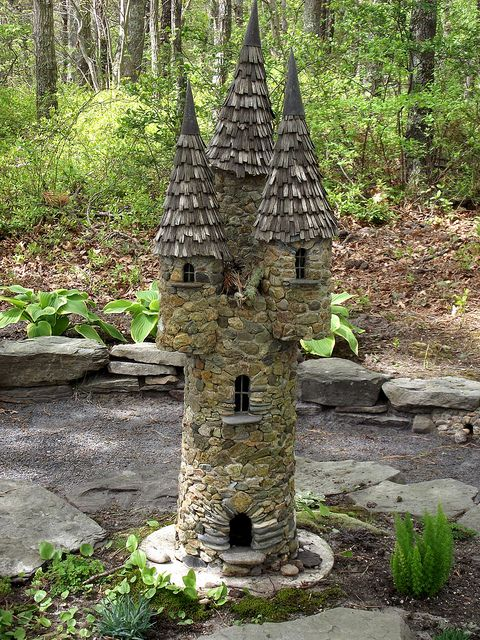 CASTLE IN THE WOODS is part of Fairy garden Castle - Shade garden at Lavender Farm in Harwich MA