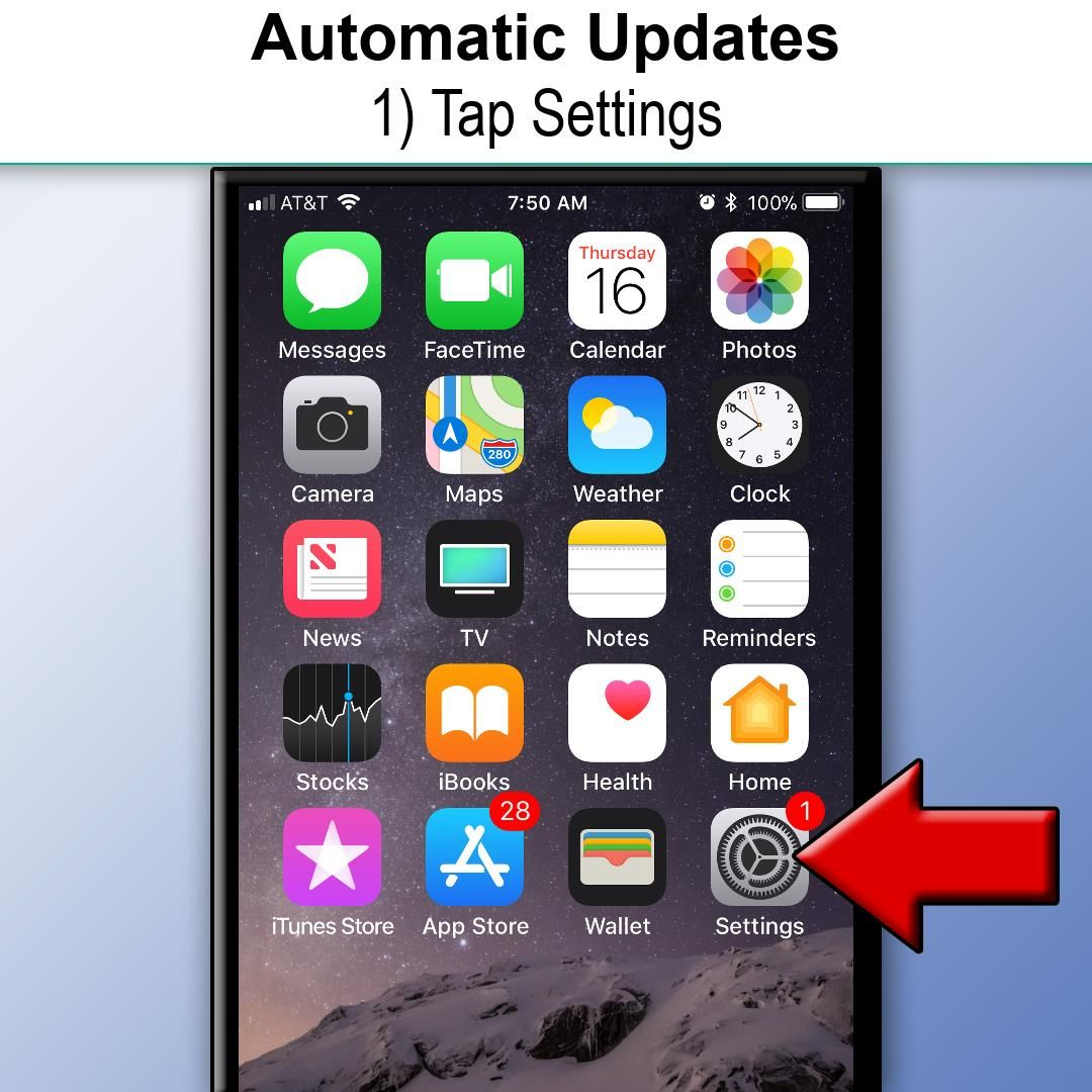 If you'd like your iPhone or iPad to automatically update