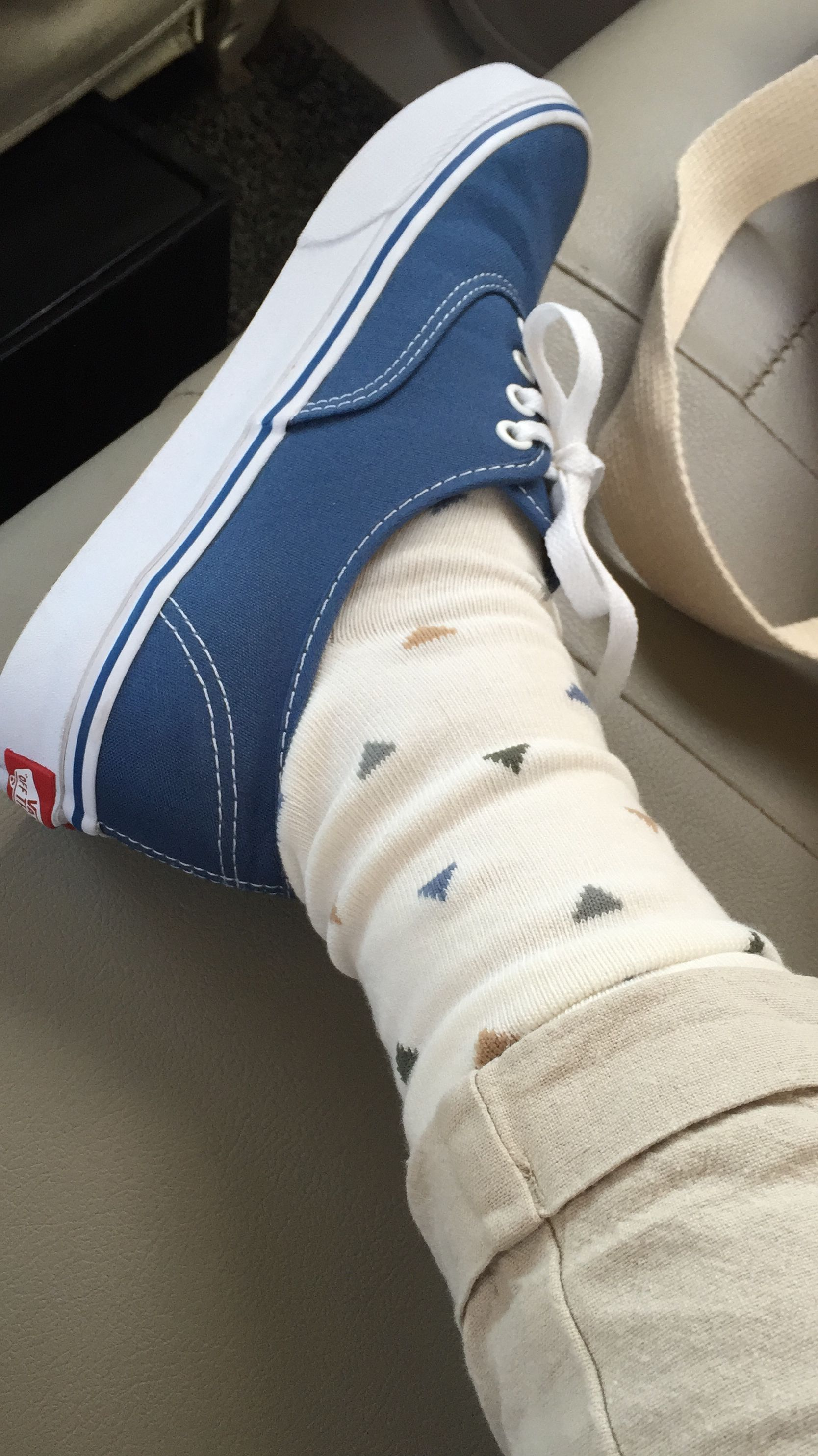 2cbf606fd948 vans authentic navy with matching socks. love it! | For the feet in ...